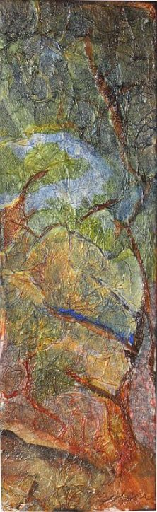 Mixed Media Collage - At the Creek