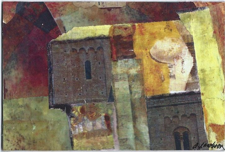 Mixed Media Collage - Cinque Terre
