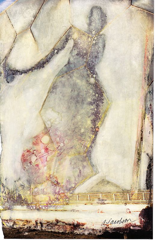 Mixed Media Collage - Miss Spring