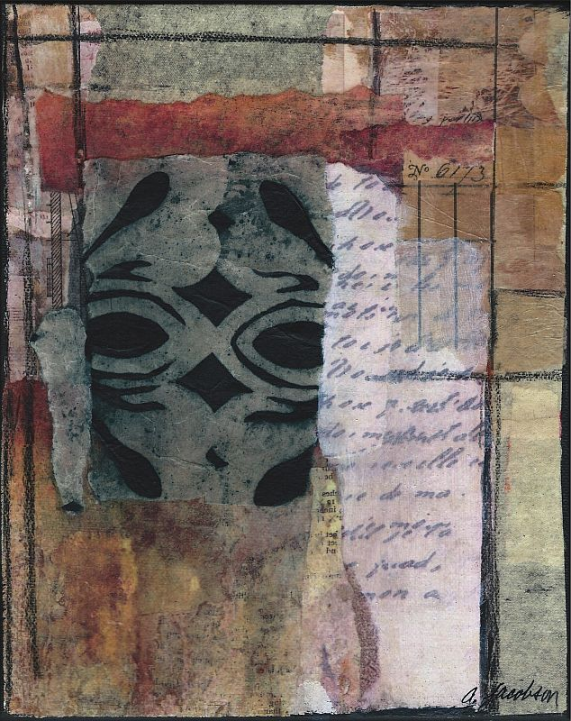 Mixed Media Collage - No. 6173
