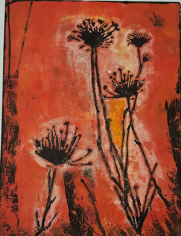 Queen Ann Lace Mono Print